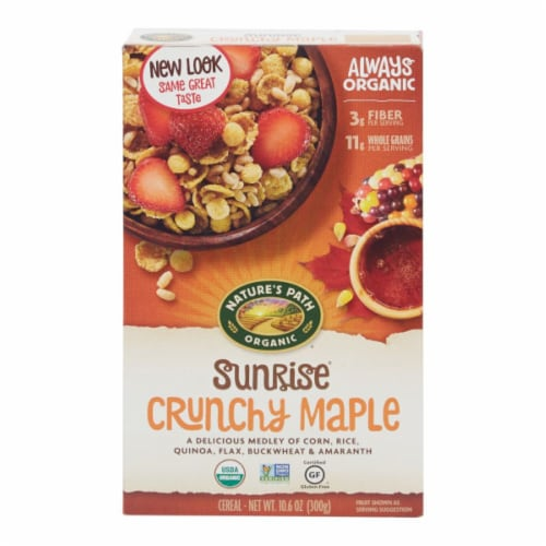 Nature's Path Organic Sunrise Crunchy Maple Cereal Perspective: front