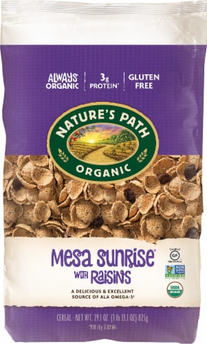 Nature's Path Organic Mesa Sunrise with Raisins Cereal Perspective: front