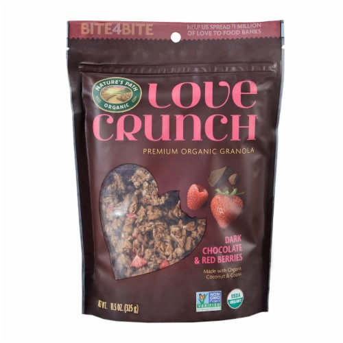 Nature's Path Organic Love Crunch Dark Chocolate & Red Berries Granola Perspective: front