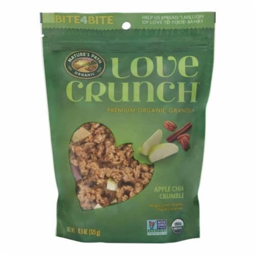 Nature's Path Organic Love Crunch Apple Chia Crumble Premium Granola Perspective: front