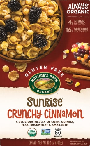 Nature's Path Organic Gluten Free Sunrise Crunchy Cinnamon Cereal Perspective: front