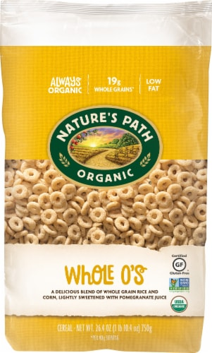 Nature's Path Organic Whole O's Cereal Perspective: front