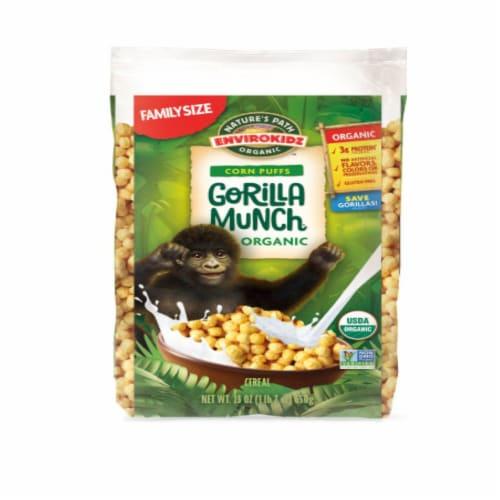 Nature's Path Organic Envirokidz Gorilla Munch Corn Puffs Cereal Perspective: front