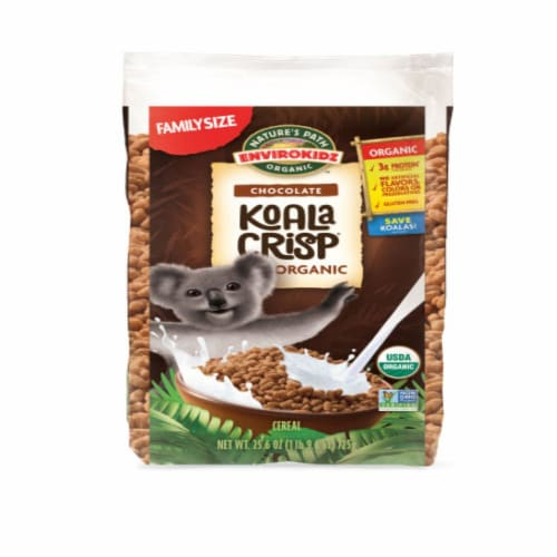 Nature's Path Organic EnviroKidz Chocolate Koala Crips Cereal Perspective: front