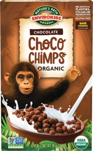 Nature's Path Organic EnviroKidz Chocolate Choco Chimps Cereal Perspective: front