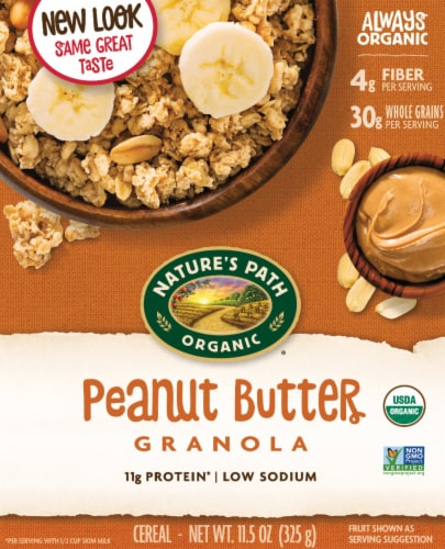 Nature's Path Organic Peanut Butter Granola Perspective: front