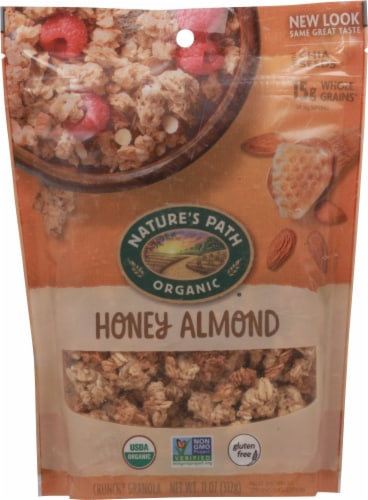 Nature's Path Organic Honey Almond Crunchy Granola Perspective: front