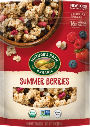 Nature's Path Organic Summer Berries Crunchy Granola Perspective: front