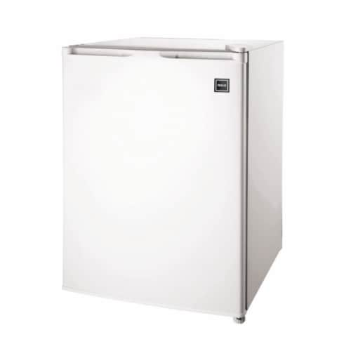 RCA 2.6 Cu. Ft. Top Freezer Mini Fridge Compact Home Refrigerator/Freezer, White Perspective: front