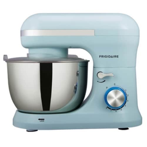 Frigidaire 4.5 Liter 8 Speed Electric Countertop Stand Mixer w/Accessories, Blue Perspective: front