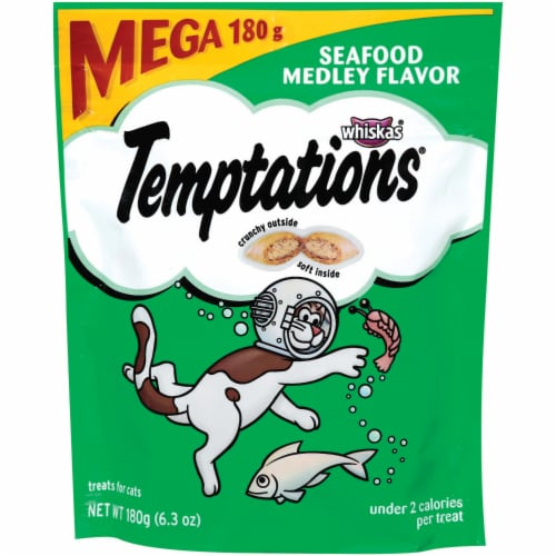 Temptations Classic Seafood Medley Flavored Cat Treats Perspective: front