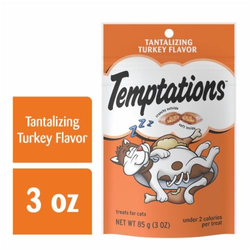 Temptations Tantalizing Turkey Flavor Cat Treats Pouch Perspective: front