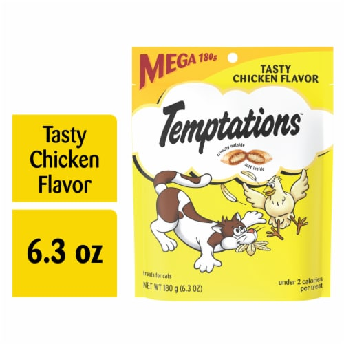 Temptations Classic Tasty Chicken Flavor Cat Treats Pouch Perspective: front