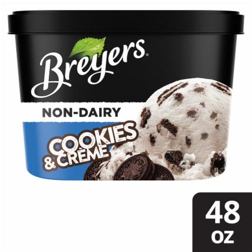 Breyers® Non-Dairy Almond Milk Oreo® Cookies & Cream Ice Cream Perspective: front