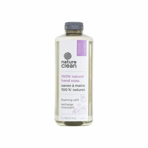 Nature Clean 10-39601 Lavender Foaming Hand Soap Refill  1L   33 U.S. fl.oz Perspective: front