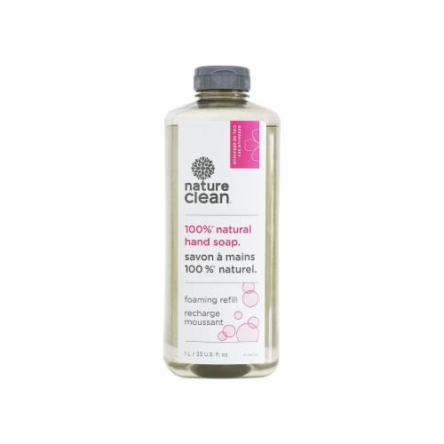 Nature Clean 10-39605 Geranium Foaming Hand Soap Refill  1L   33 U.S.fl.oz Perspective: front
