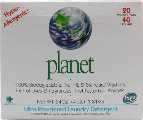 Planet Ultra Powder Laundry Detergent Perspective: front