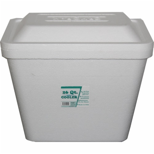 Cryopak Foam Cooler - White Perspective: front