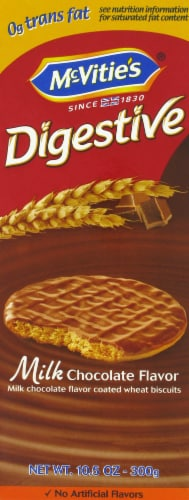 Mcvitie's Milk Chocolate Digestive Wheat Biscuits Perspective: front