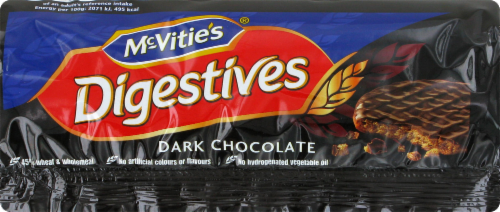 Mcvitie's Dark Chocolate Digestives Perspective: front