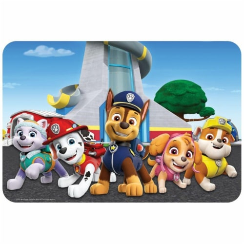 Paw Patrol Placemat for Ages 3 and Up Perspective: front