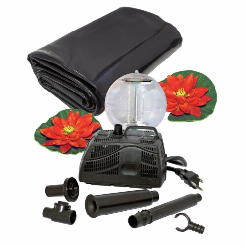 Koolscape 270-Gallon Ultimate Pond Kit with Solar Light Perspective: front