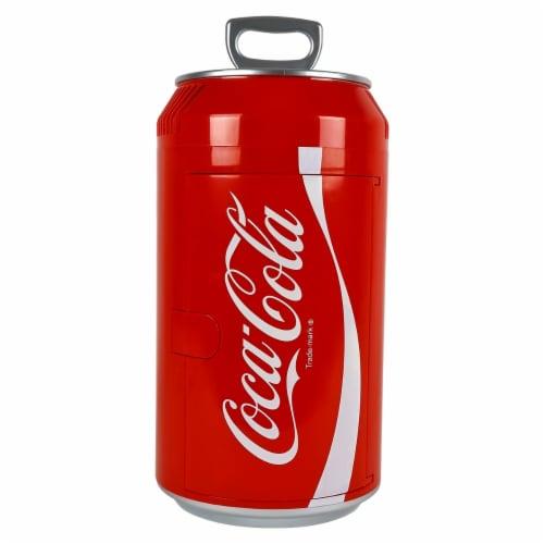 Koolatron 8 Can Official Coca-Cola AC/DC Electric Mini Fridge Beverage Cooler Perspective: front