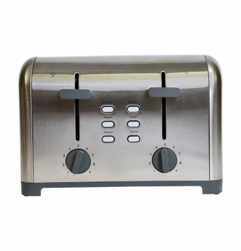 Kenmore Stainless Steel 4-Slice Toaster with Dual Controls Perspective: front
