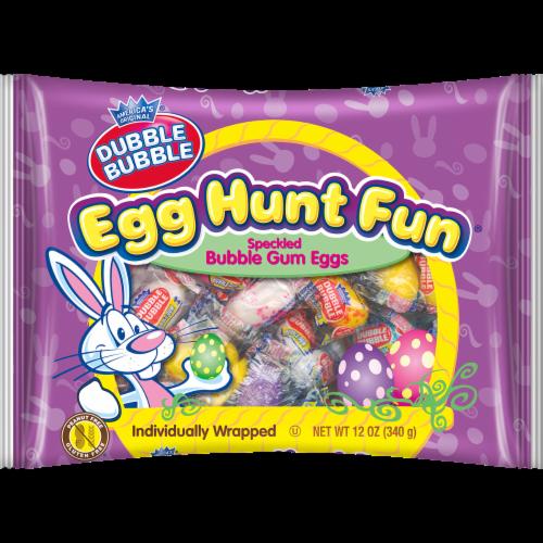Dubble Bubble Egg Hunt Fun Speckled Bubble Gum Eggs Perspective: front
