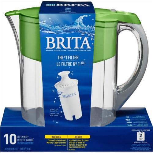 Brita Grand Model Water Filtration System - Grand Green Perspective: front