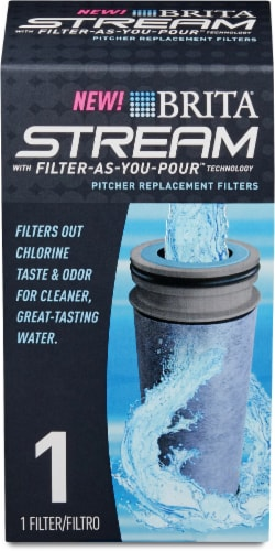 Brita Stream Pitcher Replacement Filter Perspective: front