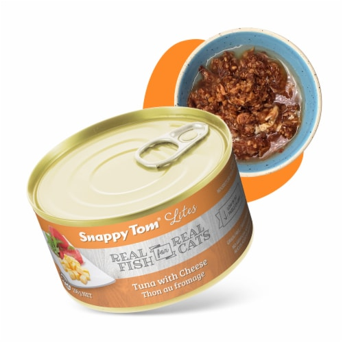 Snappy Tom Lites Tuna with Cheese 5.5oz (24 Pack) Perspective: front