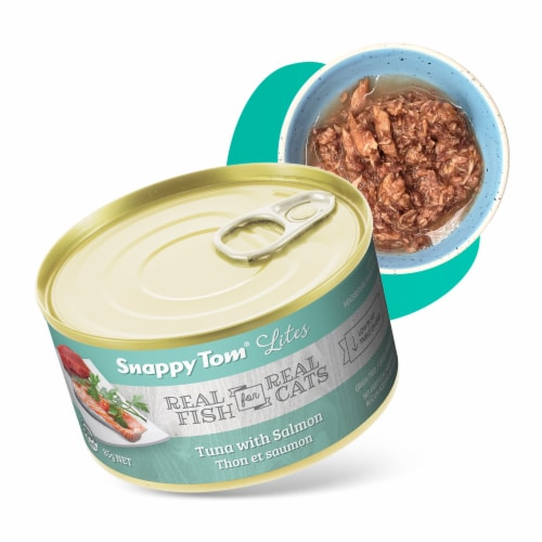 Snappy Tom Lites Tuna with Salmon 3oz (24 Pack) Perspective: front