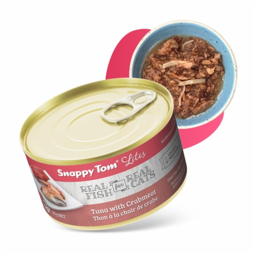 Snappy Tom Lites Tuna with Crabmeat 3oz (24 Pack) Perspective: front