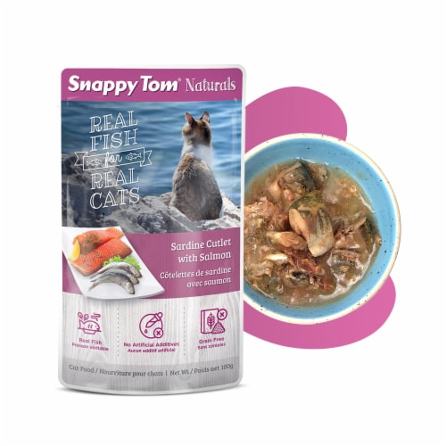 Snappy Tom Naturals Sardine Cutlet with Salmon 3.5oz Perspective: front