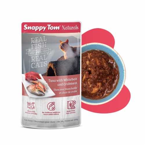 Snappy Tom Naturals Tuna with Whitebait and Crabmeat 3.5oz Perspective: front