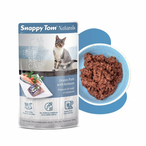 Snappy Tom Naturals Ocean Fish with Salmon 3.5 oz Perspective: front