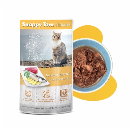 Snappy Tom Naturals Tuna with Mackerel 3.5 oz Perspective: front