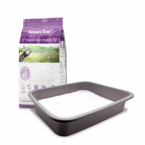 Snappy Tom Crystal Cat Litter (Lavender Scent) 4.4 lbs Perspective: front