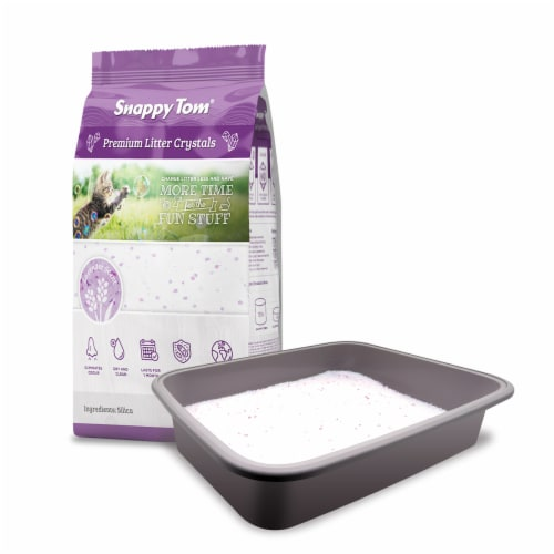 Snappy Tom Crystal Cat Litter (Lavender Scent) 8.8 lbs Perspective: front