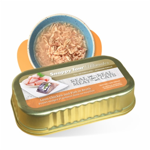 Snappy Tom Ultimates Lean Chicken and Fish in Broth 3 oz (Pack of 12) Perspective: front