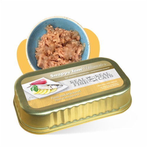 Snappy Tom Ultimates Tuna and Mackerel 3oz (Pack of 12) Perspective: front