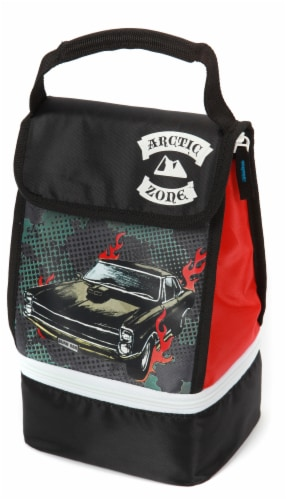 Arctic Zone Insulated Fashion Tote - Black/Red Perspective: front