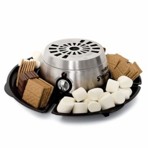 Salton SP1717 Indoor Electric S'more and Fondue Maker with 4 Roasting Forks Perspective: front