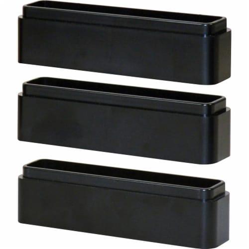 "DAC Stax Monitor Riser Blocks - 1.3"" Height x 6"" Width x 1.5"" Depth - Black Perspective: front"