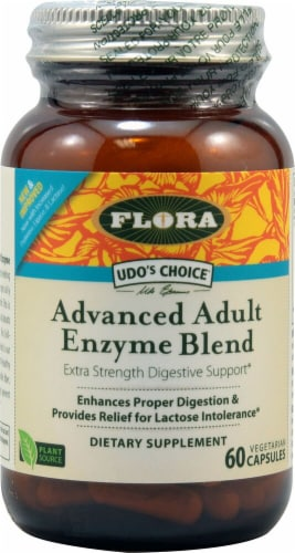 Flora  Udo's Choice® Advanced Adult Enzyme Blend Perspective: front