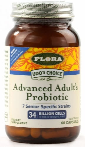Flora  Flora Advanced Adult's Probiotic Capsules Perspective: front