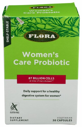 Flora Women's Care Probiotic Dietary Supplement Capsules Perspective: front