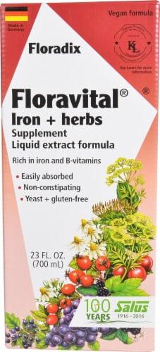 Floradix Floravital Iron plus Herbs Supplement Perspective: front