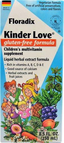 Flora Kinder Love Gluten-Free Formula Children's Multivitamin Liquid Perspective: front
